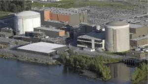 Les centrales nucléaires Gentilly-1 et Gentilly-2 à Bécancour