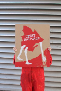 Une affiche créée par l'École de la Montagne rouge