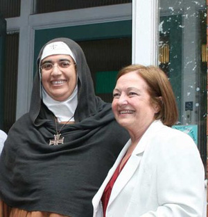 Mère Agnès Mariam et Mairead Maguire