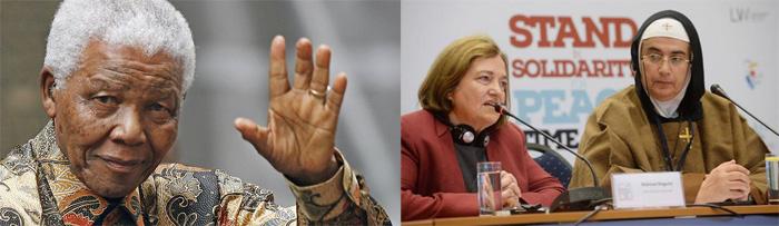 Nelson Mandela, Mairead Corrigan Maguire et Mère Agnès-Mariam