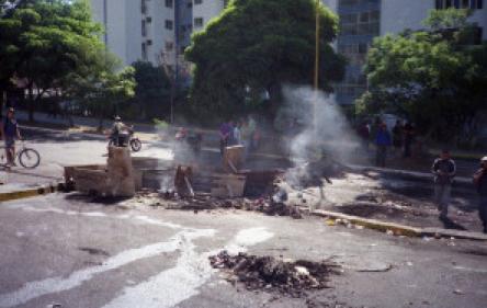 Barricade de rue à Merida, Vénézuela (photo: Pedro Moreno)