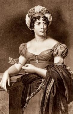 Mme de Staël. Reproduction d'après une gravure de Gerard
