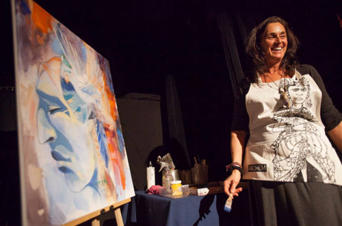 Peinture en direct avec Dominique Normand