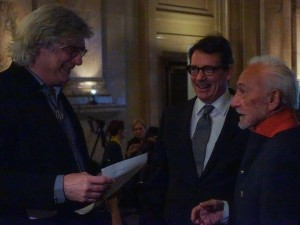 Pierre Jasmin, Pierre-Karl Péladeau et Yvon Deschamps