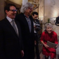Pierre-Karl Péladeau, Pierre Jasmin et Judi Richards