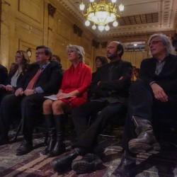 Dimitrios (Jim) Beis, Guylaine Maroist, Denis Coderre, Judi Richards, Michel Rivard et Pierre Jasmin