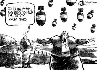 Relaxe! Ces bombes viennent nous aider… elles proviennent de l'OTAN