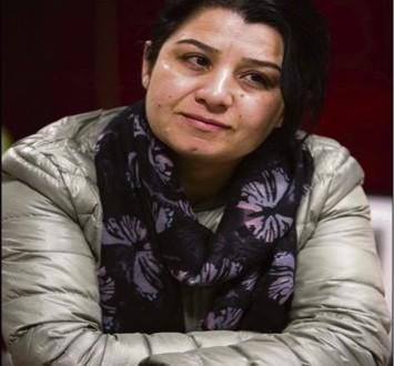 Nasrin Abdallah, commandante en chef des unités de protection des femmes (YPJ), combattantes du Kurdistan de Syrie (Rojava) : photo Frédéric Lafargue