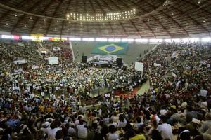 Le FSM 2005 à Porto Alegre. Photo Victor R. Calvano / AP