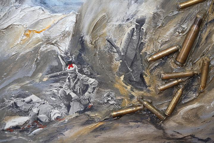 peintre Jean Cote, expo Non à la guerre