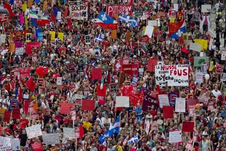 La manifestation de 2003. Photo Le Devoir