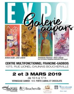 Promotion EXPO GALERIE AAPARS 2019