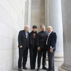 Raôul Duguay, Nathalie Bondil, Robert Lepage et André Michel