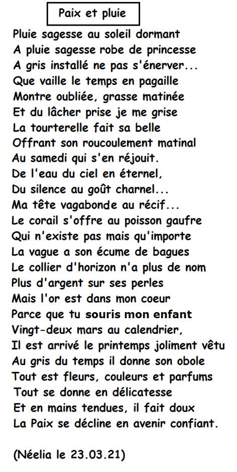 Paix et pluie (version 2)